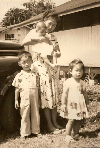14a, 1950, Yaeko w-Ronald,June,Albert