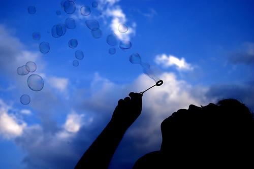 Blowingbubbles